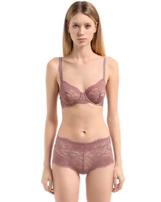 Wolford - Pink Plush Lace Bra - Lyst