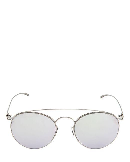 Mykita - Multicolor Margiela Aviator Mirrored Sunglasses for Men - Lyst