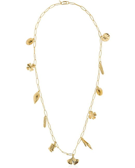 Aurelie Bidermann - Metallic Aurelie Chain Necklace With Charms - Lyst