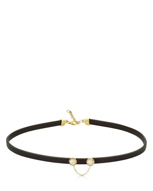 Ruifier | Black Eyes On You Leather Choker | Lyst