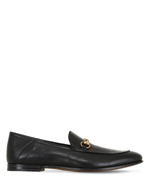 "Gucci - Black Mocasines ""brixton Horsebit"" De Piel Suave for Men - Lyst"