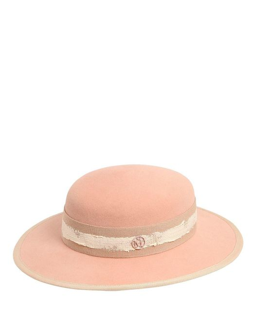 Maison Michel - Natural Rob Rabbit Fur Felt Hat - Lyst