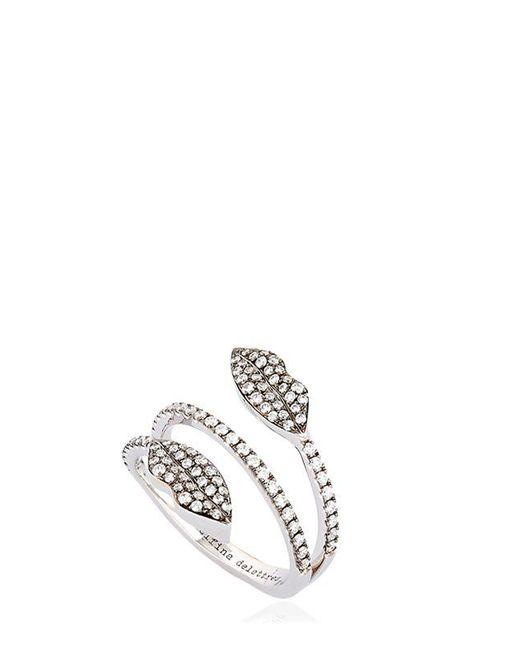 Delfina Delettrez | Metallic Marry Me Double Lips Ring | Lyst
