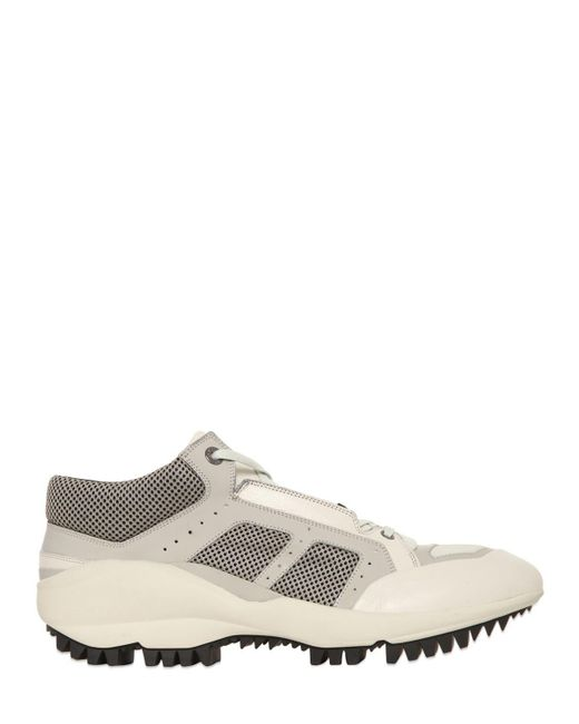 Lanvin | Natural Leather Shark-Sole Low-Top Running Sneakers for Men | Lyst