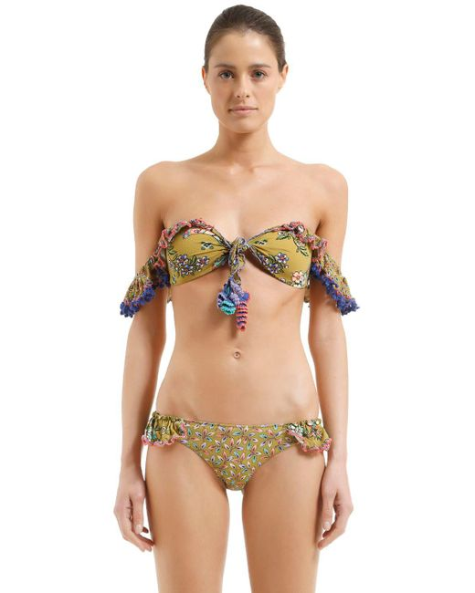 Anjuna - Green Floral Print Bikini - Lyst