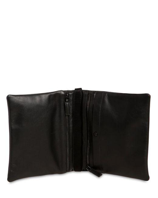 5600995ea4ed ... Prada - Black Folding Leather Crossbody Bag - Lyst