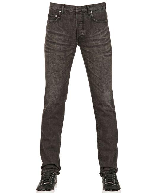 dior homme 19cm used denim jeans in black for men lyst. Black Bedroom Furniture Sets. Home Design Ideas