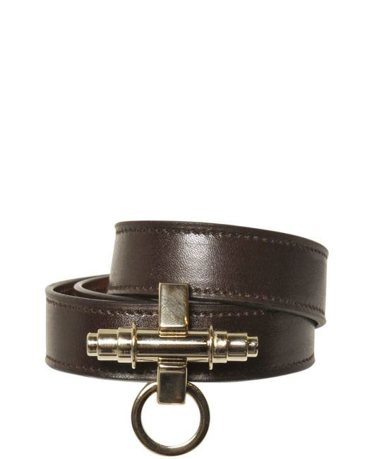 Givenchy | Brown Obsedia Wrap Around Leather Bracelet | Lyst