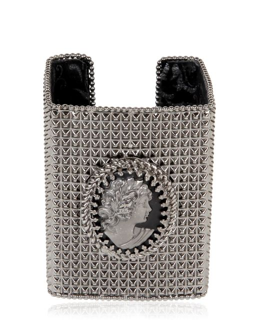 Bisou Bijoux | Black Big Square Cuff Bracelet | Lyst