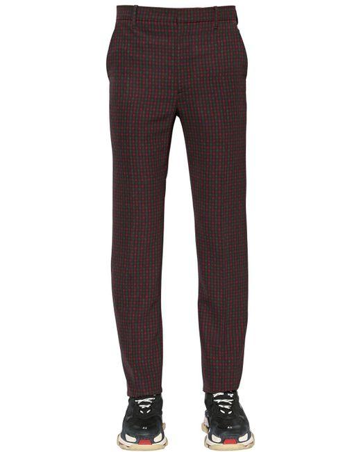 Balenciaga - Multicolor 19cm Tech Twill Check Trousers for Men - Lyst
