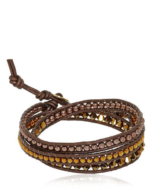 Colana | Brown Swarovski & Hematite Bracelet | Lyst