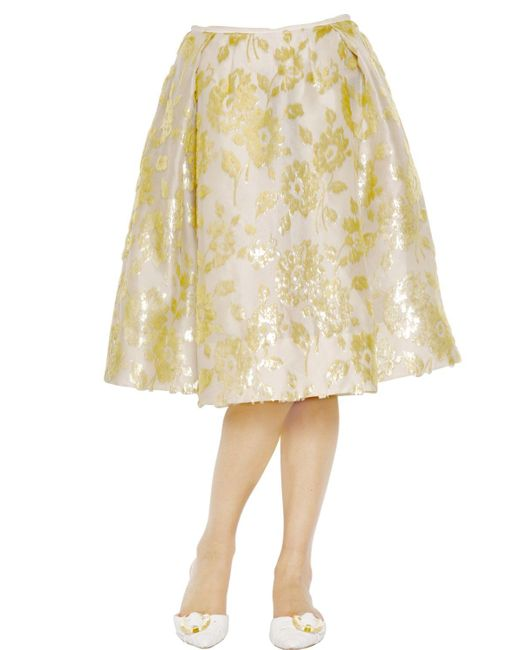 Rochas | White Floral Embroidered Silk Nigel Skirt | Lyst