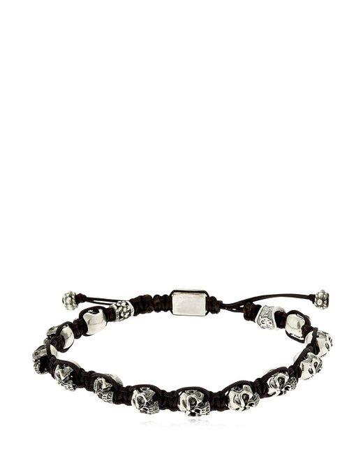 Cantini Mc Firenze | Metallic Skulls Silver Bracelet | Lyst
