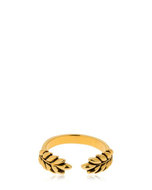 Aurelie Bidermann - Metallic Wheat Ring - Lyst