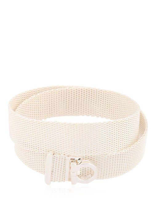 Ferragamo | Metallic Double Mesh Chain Bracelet | Lyst