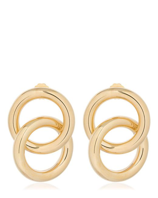 Laura Lombardi - Metallic Interlock Earrings - Lyst