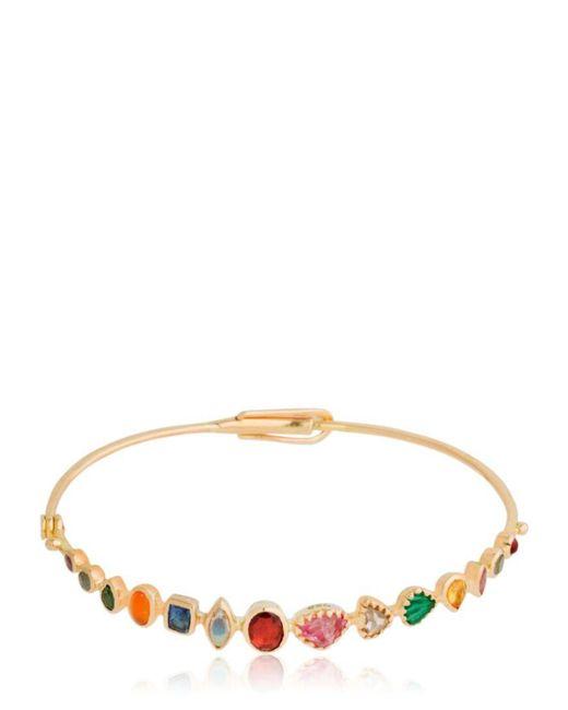 DORETTE - Metallic Smiling Bracelet, 18kt Gold - Lyst