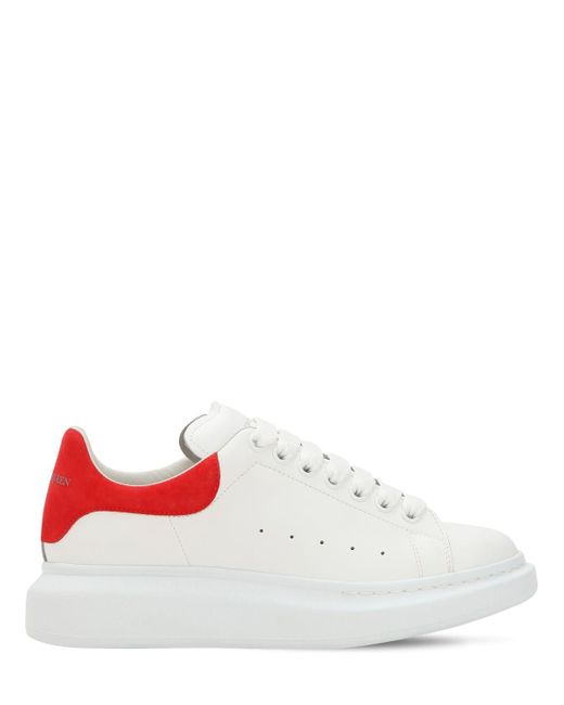 83d47fa86f8239 Alexander McQueen - White 45mm Hohe Plateausneakers Aus Leder for Men -  Lyst ...