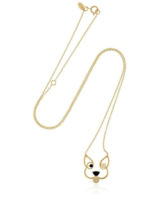 Ruifier | Metallic Animaux Patch Gold Necklace | Lyst