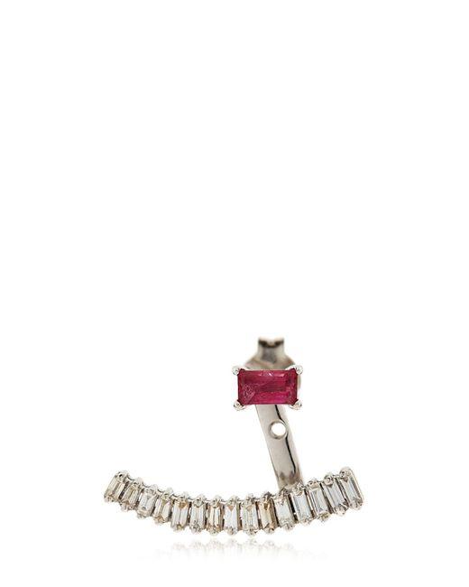Sarah Noor   Metallic Baby Baguette Earrings   Lyst