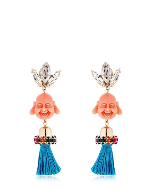 Anton Heunis | Multicolor Pandora's Box Happy Buddha Earrings | Lyst