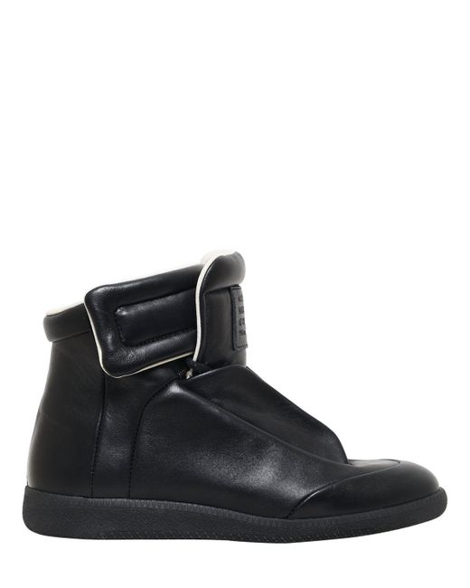 Maison Margiela | Black Future Leather High-Top Sneakers | Lyst