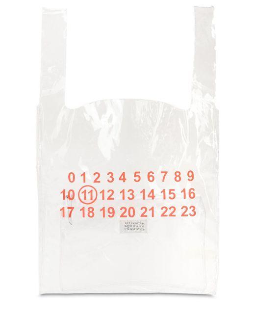 b03f9f7488 ... Maison Margiela - White Tote Bag En Pvc Transparent Avec Pochette for  Men - Lyst ...