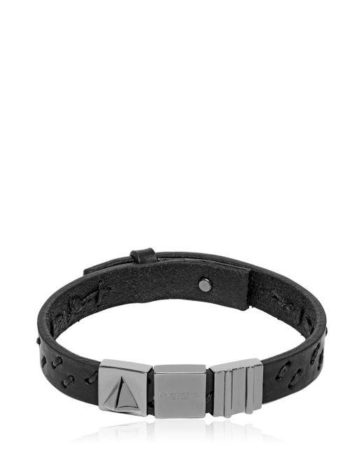Northskull | Black Oka Laser-cut Leather Bracelet for Men | Lyst