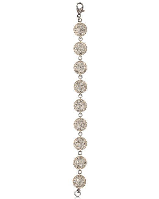 Roberto Marroni | Metallic Oxidized White Gold Bracelet | Lyst