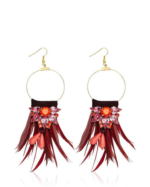 Matthew Williamson | Red Earrings | Lyst
