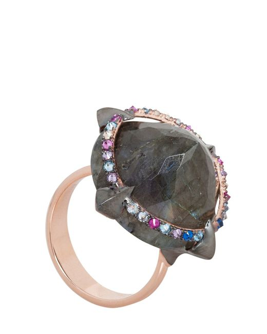 Katie Rowland | Metallic Mercier Statement Claw Ring | Lyst