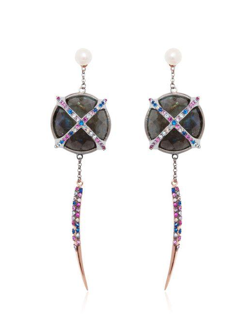 Katie Rowland | Black Mercier Statement Earrings | Lyst