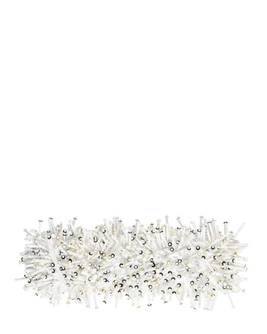 NO KA 'OI | White Embellished Techno Satin Bracelet | Lyst