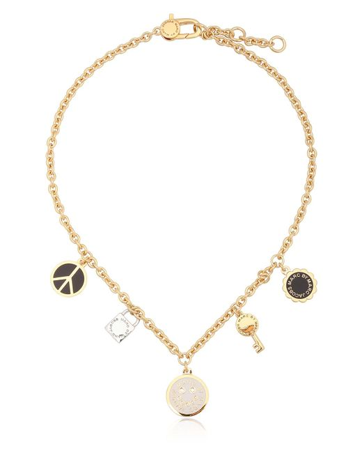 Marc By Marc Jacobs | Black Enameled Brass Happy House Necklace | Lyst