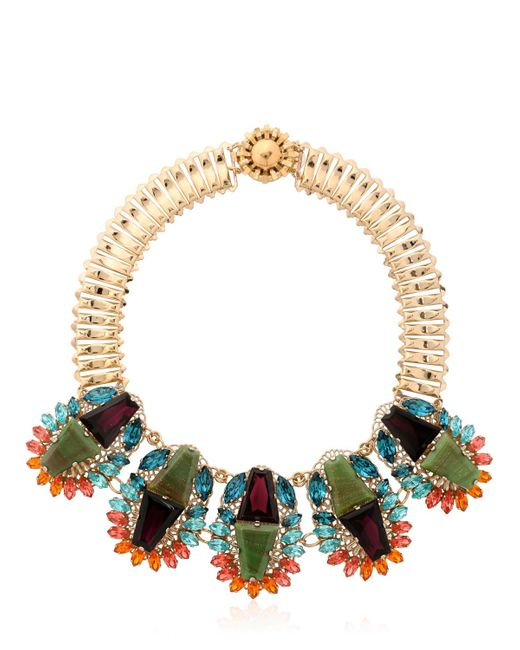 Anton Heunis | Metallic Flowers Motif Necklace | Lyst