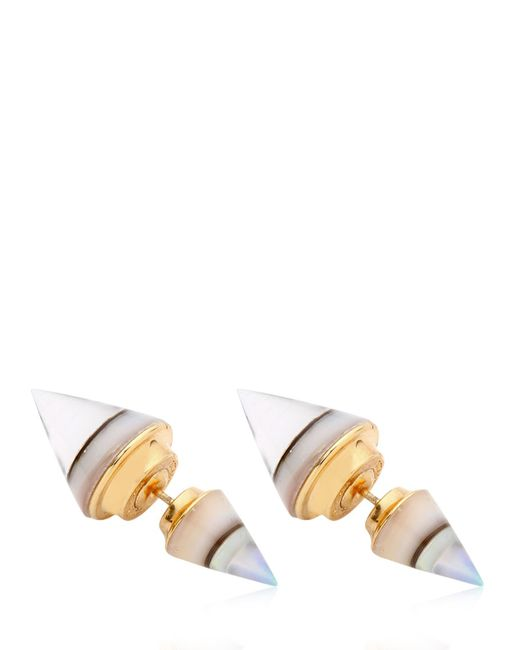 Vita Fede | White Double Titan Abalone Earrings | Lyst