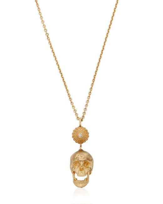 Luis Morais | Metallic Large Skull Necklace | Lyst