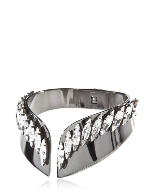 Ellen Conde | Black Bracelet With Swarovski Crystals | Lyst