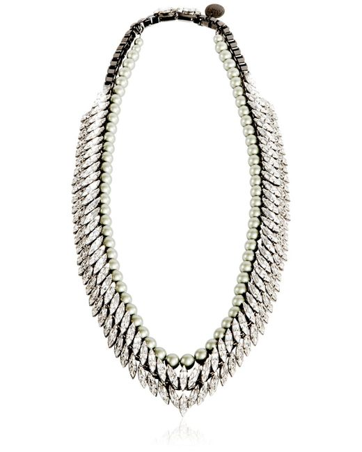 Ellen Conde | Gray Necklace With Swarovski | Lyst