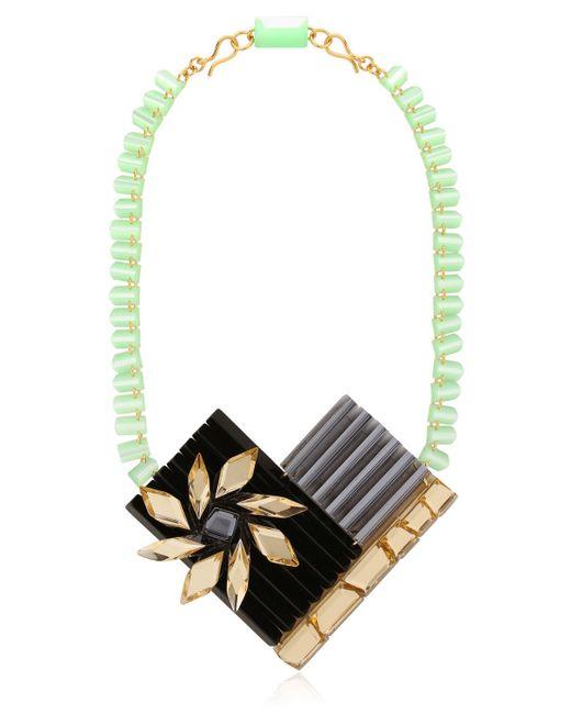 Silvia Rossi | Black Sun Flower Necklace | Lyst