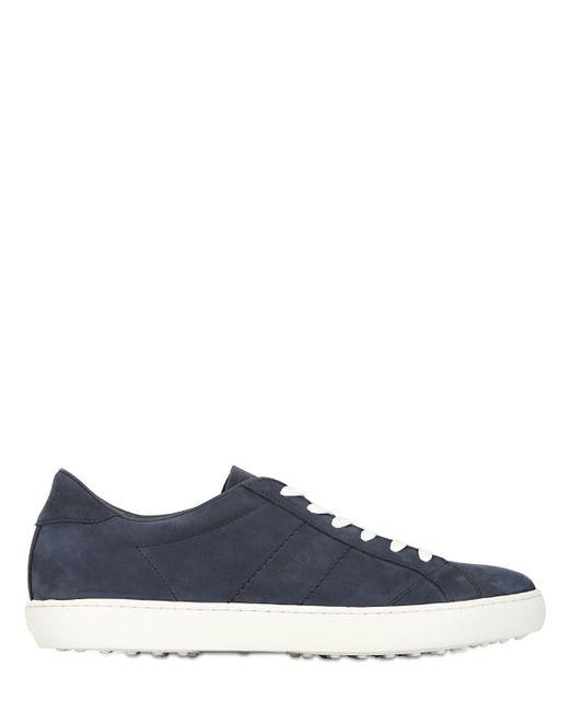 Tod's | Blue Nubuck Tennis Sneakers for Men | Lyst