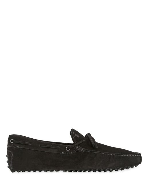 Tod's   Black Gommino 122 Suede Driving Shoes for Men   Lyst
