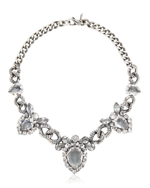 Emanuele Bicocchi | Metallic Swarovski Crystal Necklace | Lyst