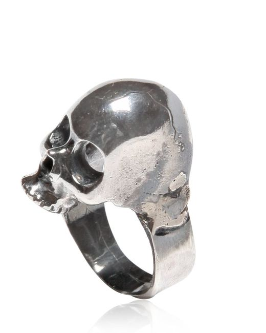 Emanuele Bicocchi | Metallic Silver Skull Ring for Men | Lyst