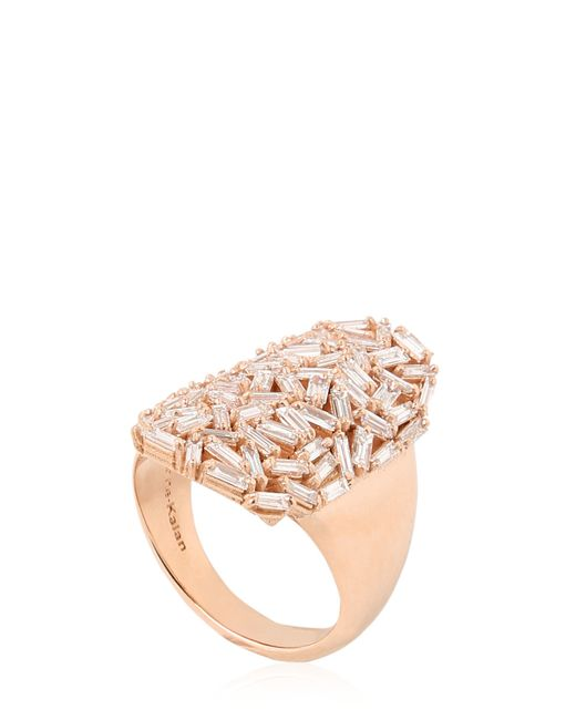 Suzanne Kalan | Pink Shield Ring | Lyst