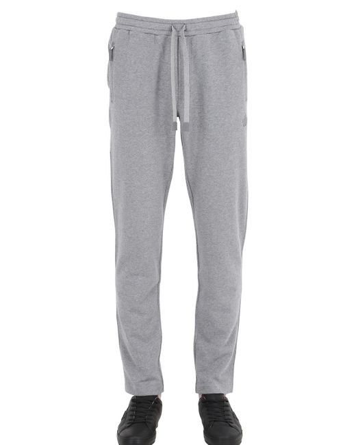 Dolce & Gabbana | Gray Crown Embroidered Cotton Jogging Pants for Men | Lyst
