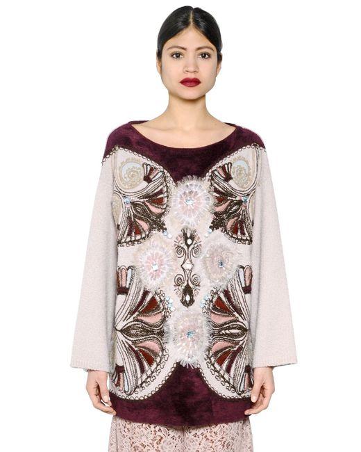 Antonio marras Embellished Wool Blend Jumper in Pink