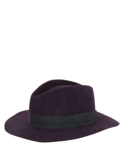 Gladys Tamez Millinery | Purple Saint Marie Velour Felt Hat | Lyst