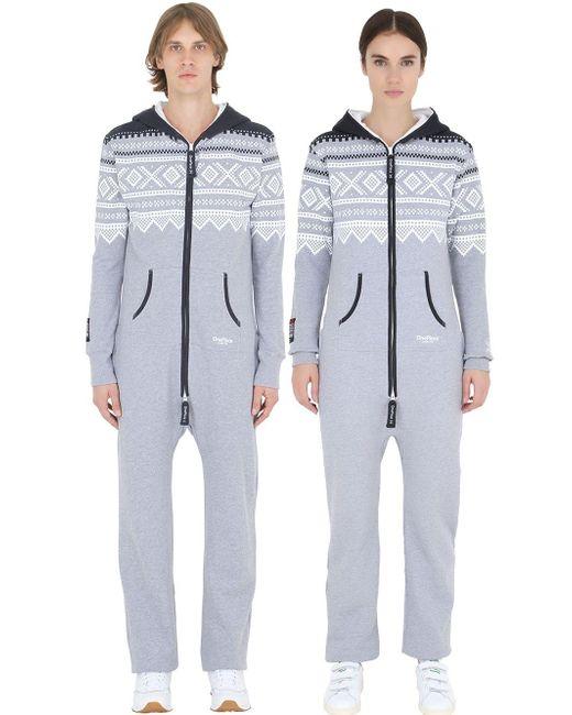 OnePiece | Gray Original Cotton Blend Jumpsuit | Lyst