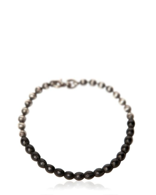 Title Of Work | Metallic Ball Chain Bracelet With Leather Detail for Men | Lyst